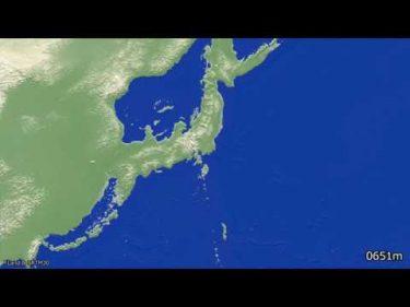 海面上昇下降シミュレーション(4K) #GPSCycling
