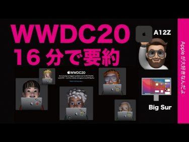 WWDC20基調講演を16分に要約/ながし見・かなり楽しみなOSアップデート!Mac miniにA12Zチップ!?by Appleが大好きなんだよ